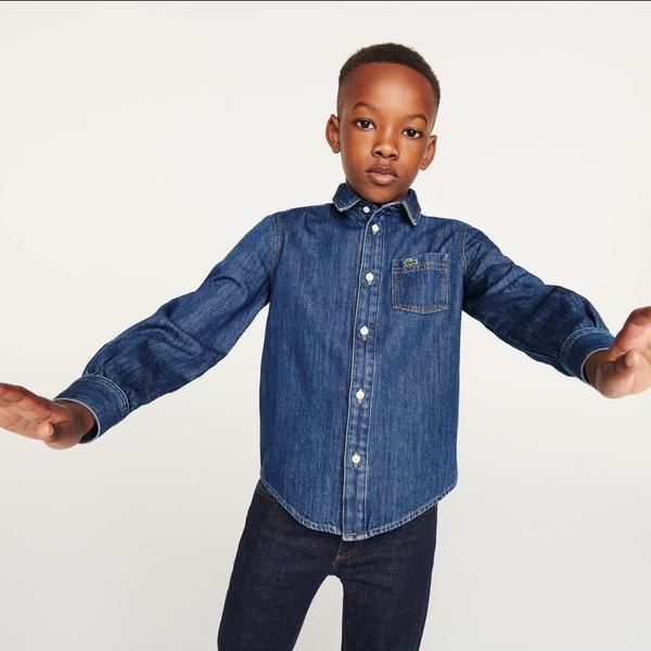 Lacoste Erkek Çocuk Regular Fit Denim Gömlek