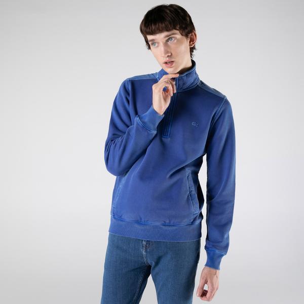 Lacoste Erkek Regular Fit Yarım Fermuarlı Mavi Sweatshirt