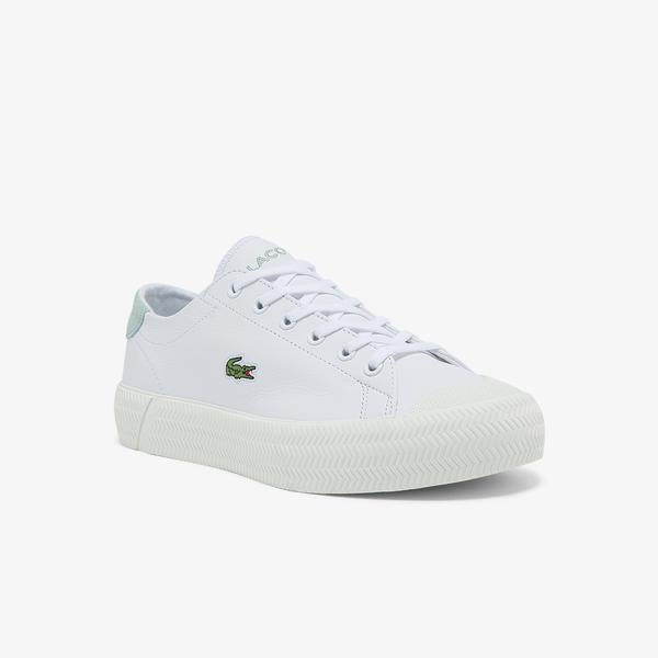 Lacoste Gripshot 0121 1 Cfa Kadın Deri Beyaz - Açık Yeşil Sneaker