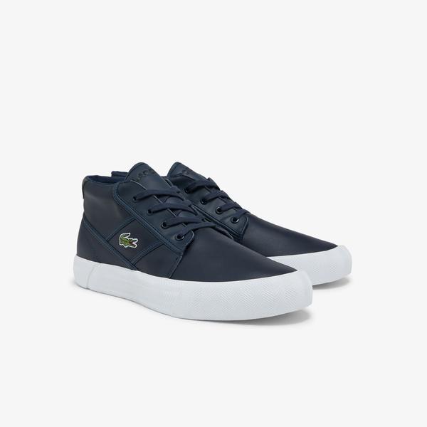 Lacoste Gripshot Chukka 03211 Cma Erkek Deri Lacivert - Siyah Sneaker