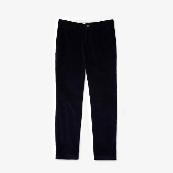 Lacoste Erkek Regular Fit Kadife Lacivert Pantolon