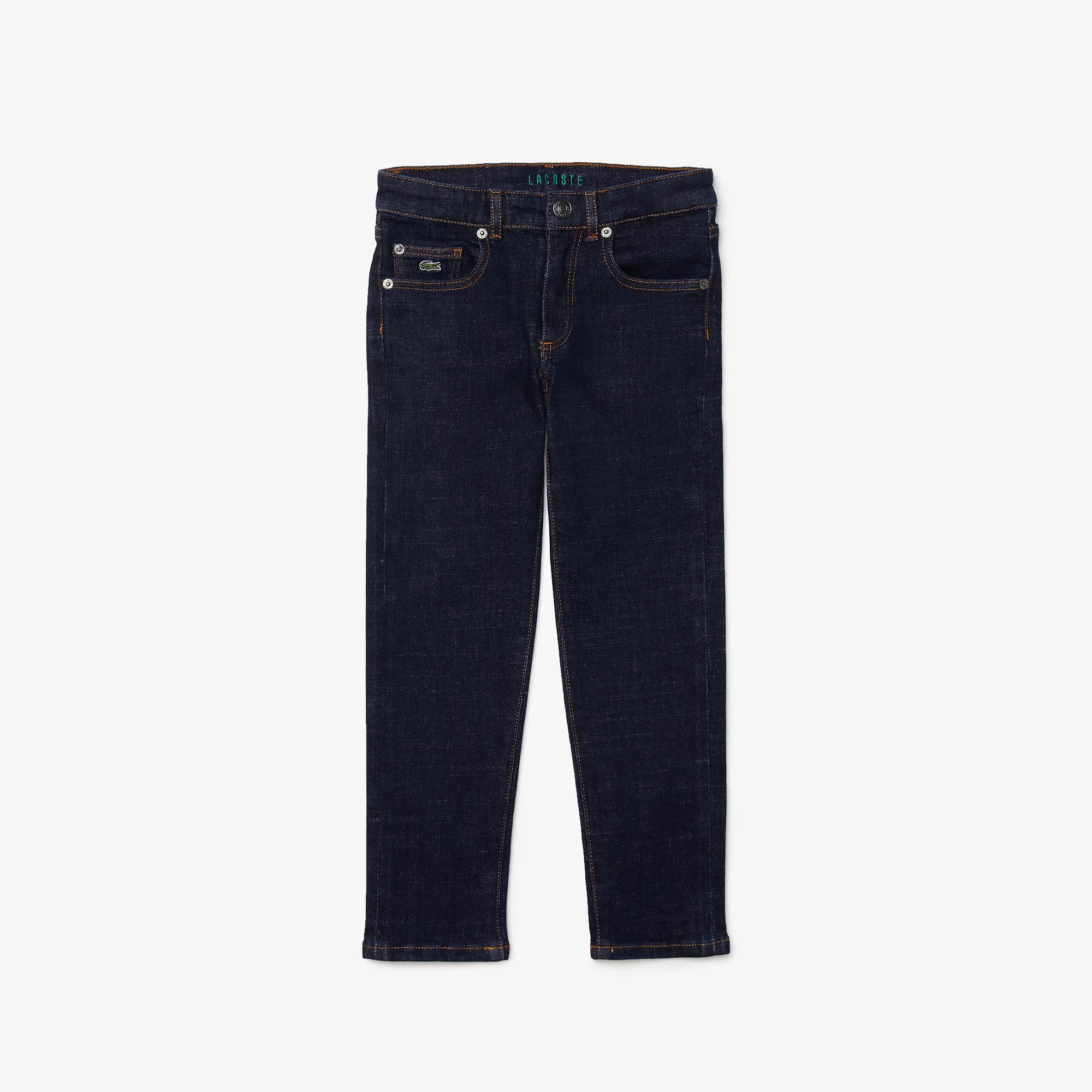 Lacoste Erkek Çocuk Straight Fit Lacivert Denim Pantolon