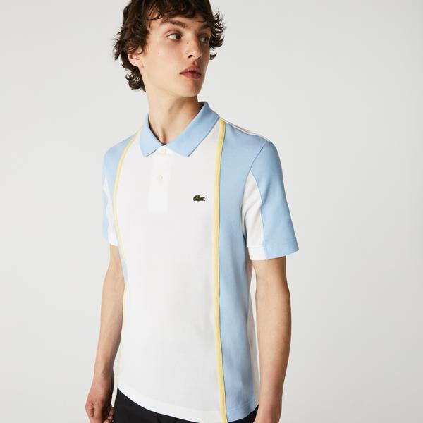 Lacoste Heritage Erkek Regular Fit Renk Bloklu Beyaz Polo