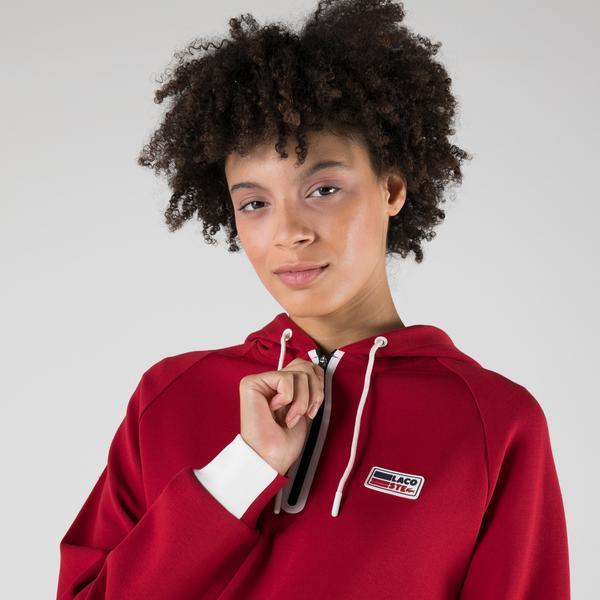 Lacoste SPORT Kadın Regular Fit Kapüşonlu Kırmızı Sweatshirt