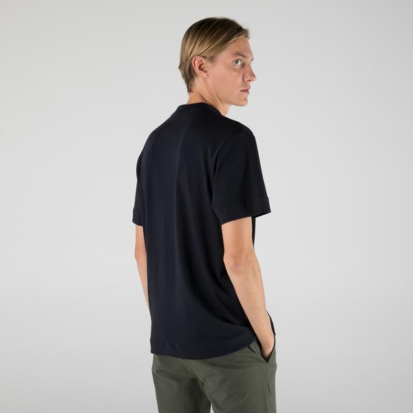 Lacoste Erkek Relaxed Fit Bisiklet Yaka Lacivert T-Shirt