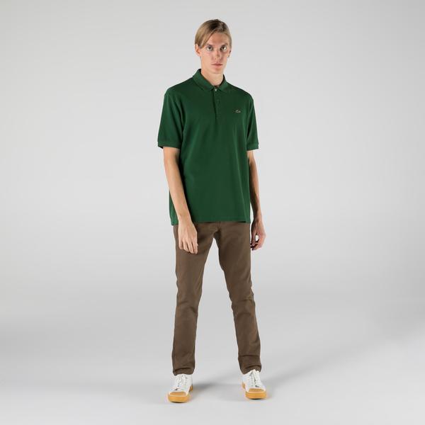 Lacoste L!VE Unisex Loose Fit Yeşil Polo