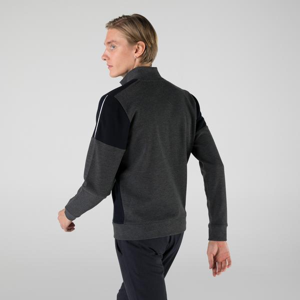 Lacoste Erkek Regular Fit Fermuarlı Renk Bloklu Koyu Gri Sweatshirt