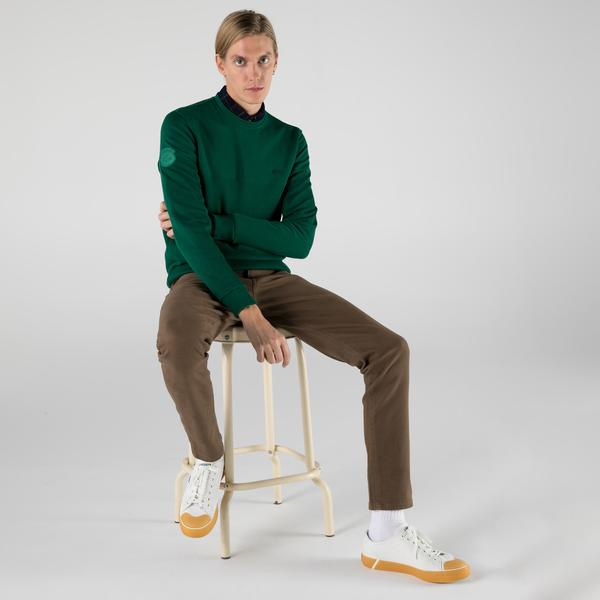 Lacoste Erkek Regular Fit Uzun Kollu Bisiklet Yaka Yeşil Sweatshirt