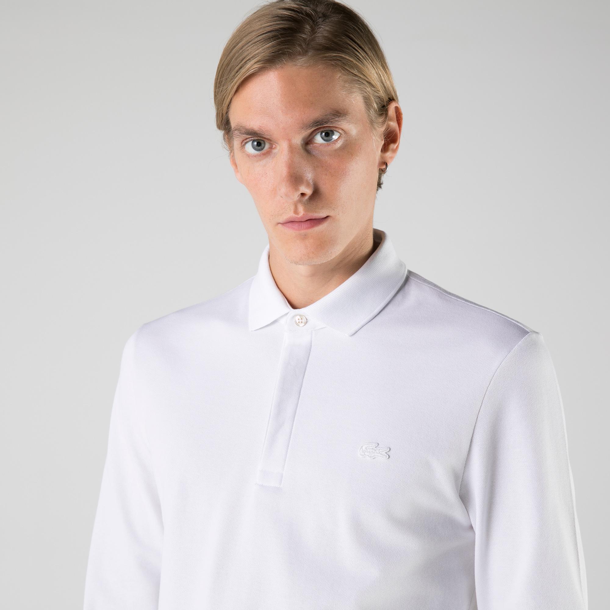 Lacoste Erkek Regular Fit Uzun Kollu Beyaz Polo