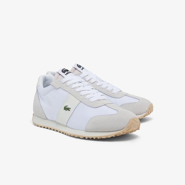 Lacoste Court Pace 0121 1 Sfa Kadın Beyaz - Kırık Beyaz Sneaker