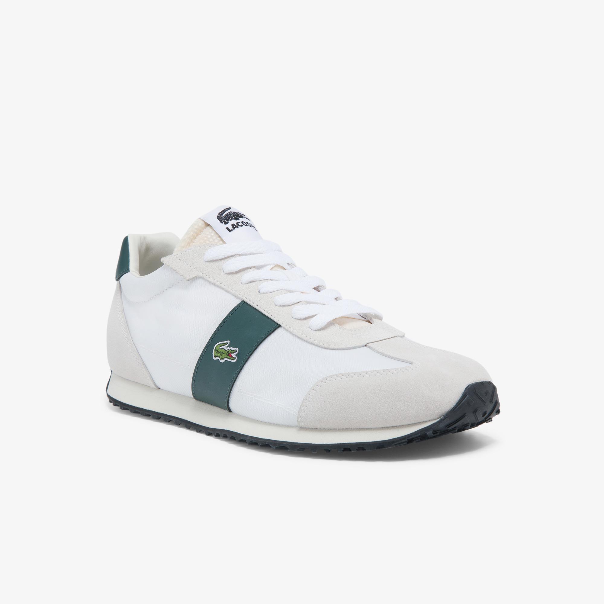 Lacoste Court Pace 0121 1 Sma Erkek Deri Kırık Beyaz - Koyu Yeşil Sneaker